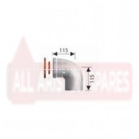 Ariston Coaxial Flue 90° Elbow (SE) 3318003