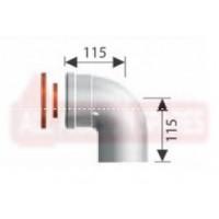 Ariston Coaxial Flue 90° Elbow (HE) 3318075