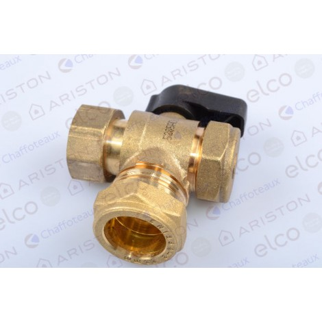 60000889 Ariston Water Return Service Valve/Tap (Cares ONE 24/30 UK Caravan & Leisure Boiler)