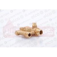 Ariston 3-way pressure gauge valve group 65105063 (Replaces 65100547) (Microgenus II 24,28 & 31)